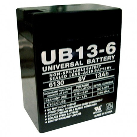 6 Volt 13 ah (12v 13a) UB13-6 Emergency Lighting Battery