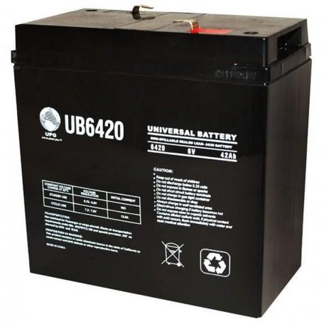 6 Volt 42ah UB6420 Emergency Lighting Battery replaces 36 ah