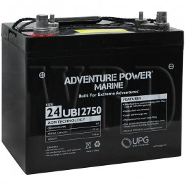 12 V, 75 Ah Group 24 Deep Cycle AGM Marine Battery