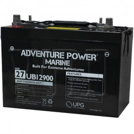 12 V, 90 Ah Group 27 Deep Cycle AGM Marine Battery