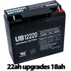 Pride Mobility BATLIQ1020 AGM 17Ah Replacement Battery 22ah UPG