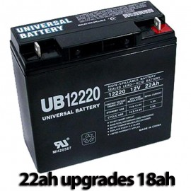 Pride Mobility BATLIQ1022 AGM 17Ah Replacement Battery 22ah UPG