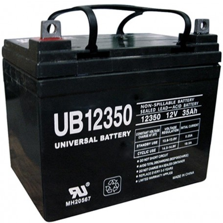 Pride Mobility BATLIQ1008 AGM 12 Volt, 35 Ah U1 Replacement Battery