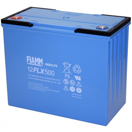 Fiamm 12FLX500 12 FLX 500 135ah 493wpc High Rate UPS Standby Battery
