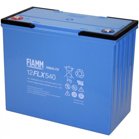 Fiamm 12FLX540 12 FLX 540 150ah 540wpc High Rate UPS Standby Battery
