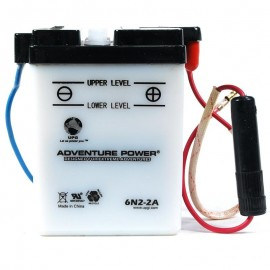 Adventure Power 6N2-2A (6V, 2AH) Motorcycle Battery