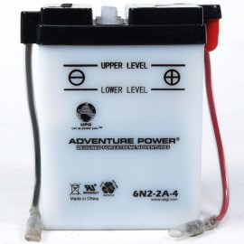 Adventure Power 6N2-2A-4  (6V, 2AH) Motorcycle Battery