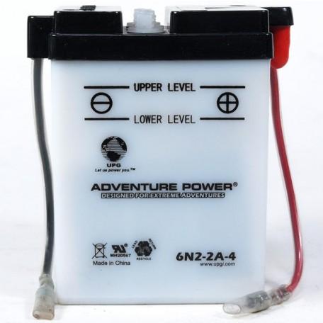 Adventure Power 6N2-2A-4  (6V, 2AH) Motorcycle Battery