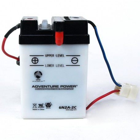 Adventure Power 6N2A-2C  (6V, 2AH) Motorcycle Battery