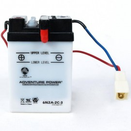 Adventure Power 6N2A-2C-3 (6V, 2AH) Motorcycle Battery