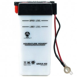 Adventure Power 6N4A-4D (6V, 4AH) Motorcycle Battery