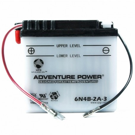 Adventure Power 6N4B-2A-3 (6V, 4AH) Motorcycle Battery