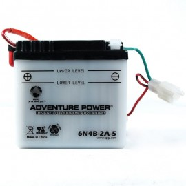 Adventure Power 6N4B-2A-5 (6V, 4AH) Motorcycle Battery