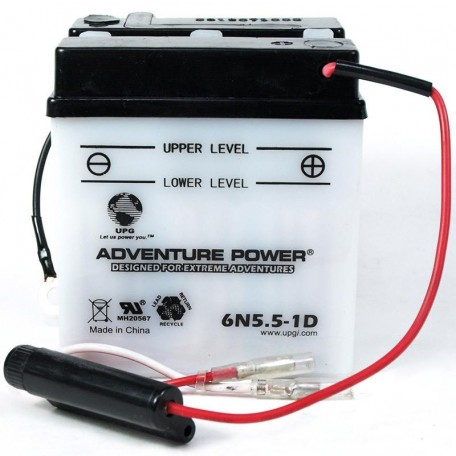 Adventure Power 6N5.5-1D (6V, 5.5AH) Motorcycle Battery