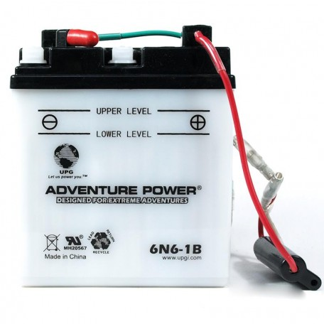 Adventure Power 6N6-1B (6V, 6AH) Motorcycle Battery
