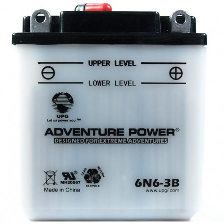 Adventure Power 6N6-3B (6V, 6AH) Motorcycle Battery