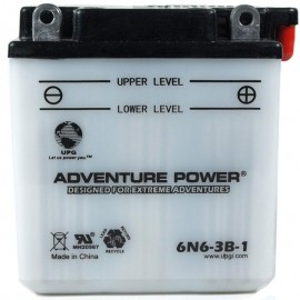 Adventure Power 6N6-3B-1 (6V, 6AH) Motorcycle Battery
