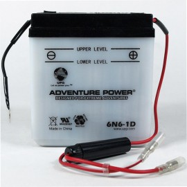 Adventure Power 6N6-1D (6V, 6AH) Motorcycle Battery