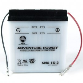 Adventure Power 6N6-1D-2 (6V, 6AH) Motorcycle Battery