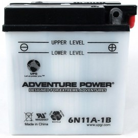 Adventure Power 6N11A-1B (6V, 11AH) Motorcycle Battery
