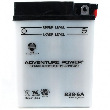Adventure Power B38-6A (6V, 13AH) Motorcycle Battery