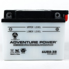 Adventure Power 6UB8-3B (6YB8L-B) (6V, 8AH) Motorcycle Battery