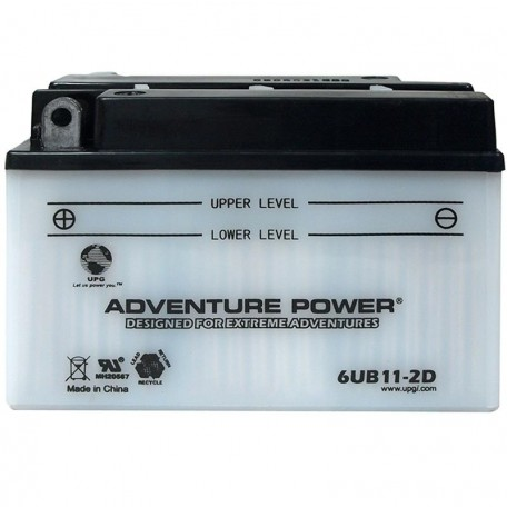 Adventure Power 6UB11-2D (6YB11-2D) (6V, 11AH) Motorcycle Battery