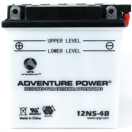 Adventure Power 12N5-4B (12V, 5AH) Motorcycle Battery