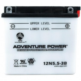 Adventure Power 12N5.5-3B (12V, 5.5AH) Motorcycle Battery