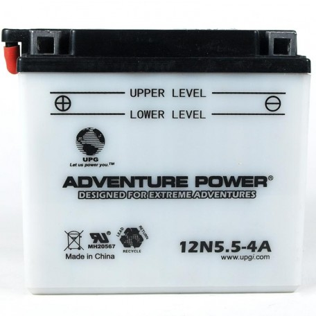 Adventure Power 12N5.5-4A (12V, 5.5AH) Motorcycle Battery