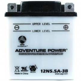Adventure Power 12N5.5A-3B (12V, 5.5AH) Motorcycle Battery