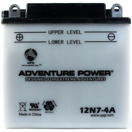 Adventure Power 12N7-4A (12V, 7AH) Motorcycle Battery