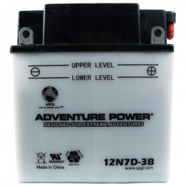 Adventure Power 12N7D-3B (12V, 7AH) Motorcycle Battery