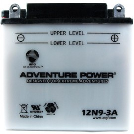 Adventure Power 12N9-3A (12V, 9AH) Motorcycle Battery