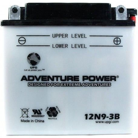 Adventure Power 12N9-3B (12V, 9AH) Motorcycle Battery