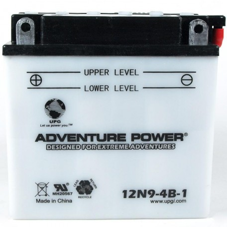 Adventure Power 12N9-4B-1 (12V, 9AH) Motorcycle Battery