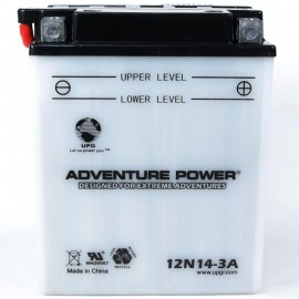 Adventure Power 12N14-3A (12V, 14AH) Motorcycle Battery