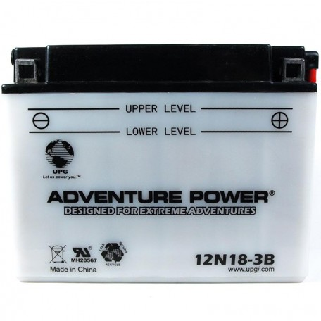 Adventure Power 12N18-3B (12V, 18AH) Motorcycle Battery