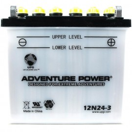 Adventure Power 12N24-3 (12V, 24AH) Motorcycle Battery