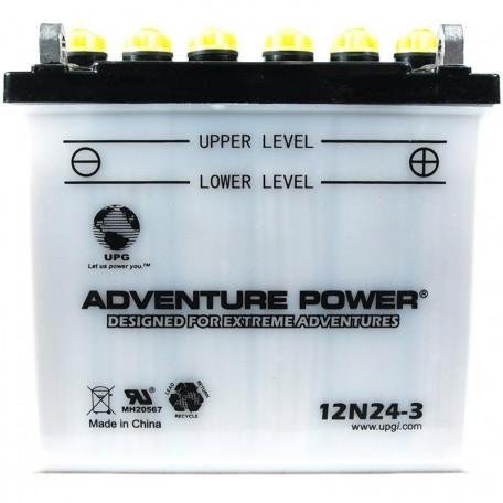 Adventure Power 12N24-3 (12V, 24AH) Motorcycle Battery
