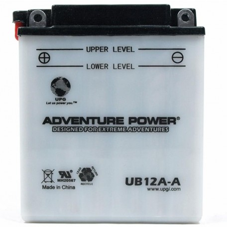 Adventure Power UB12A-A (YB12A-A) (12V, 12AH) Motorcycle Battery