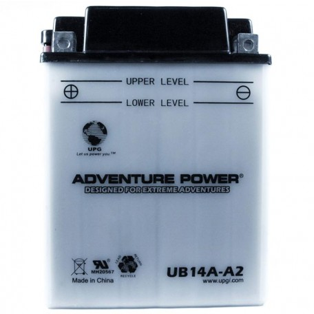 Adventure Power UB14A-A2 (YB14A-A2) (12V, 14AH) Motorcycle Battery