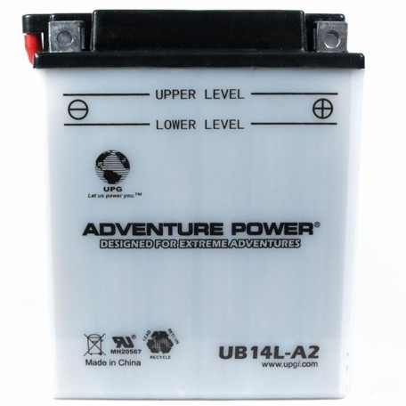 Adventure Power UB14L-A2 (YB14L-A2) (12V, 14AH) Motorcycle Battery
