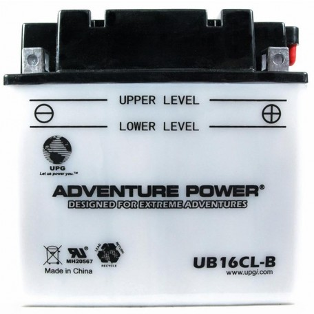 Adventure Power UB16CL-B (YB16CL-B) (12V, 19AH) Motorcycle Battery