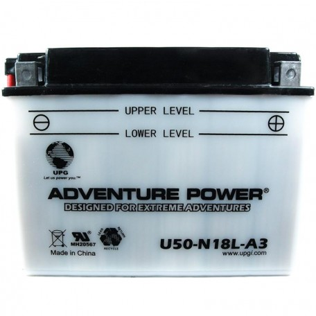 Adventure Power U50-N18L-A3 (Y50-N18L-A3) (12V, 20AH) Motorcycle Battery