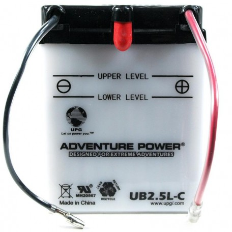 Adventure Power UB2.5L-C (YB2.5L-C) (12V, 2.5AH) Motorcycle Battery