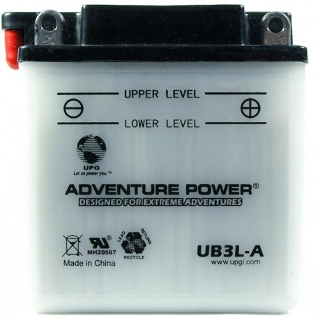 Adventure Power UB3L-A (YB3L-A) (12V, 3AH) Motorcycle Battery