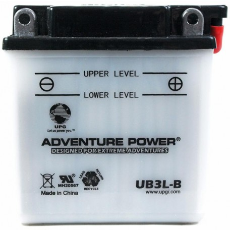 Adventure Power UB3L-B (YB3L-B) (12V, 3AH) Motorcycle Battery