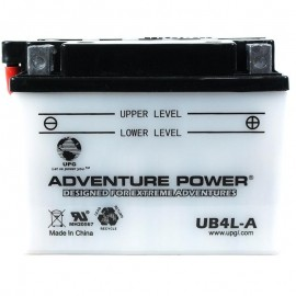 Adventure Power UB4L-A (YB4L-A) (12V, 4AH) Motorcycle Battery