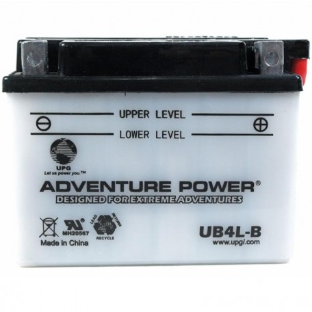 Adventure Power UB4L-B (YB4L-B) (12V, 4AH) Motorcycle Battery